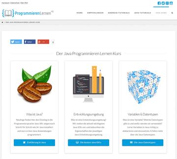 Auf der Webseite ProgrammierenLernenHQ.de dreht sich alles um Java und Android
