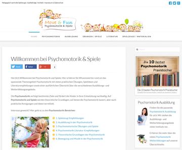 Webseite PsychomotorikundSpiele.de