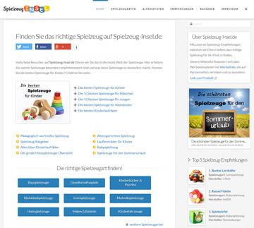 Webseite Spielzeug-Insel.de